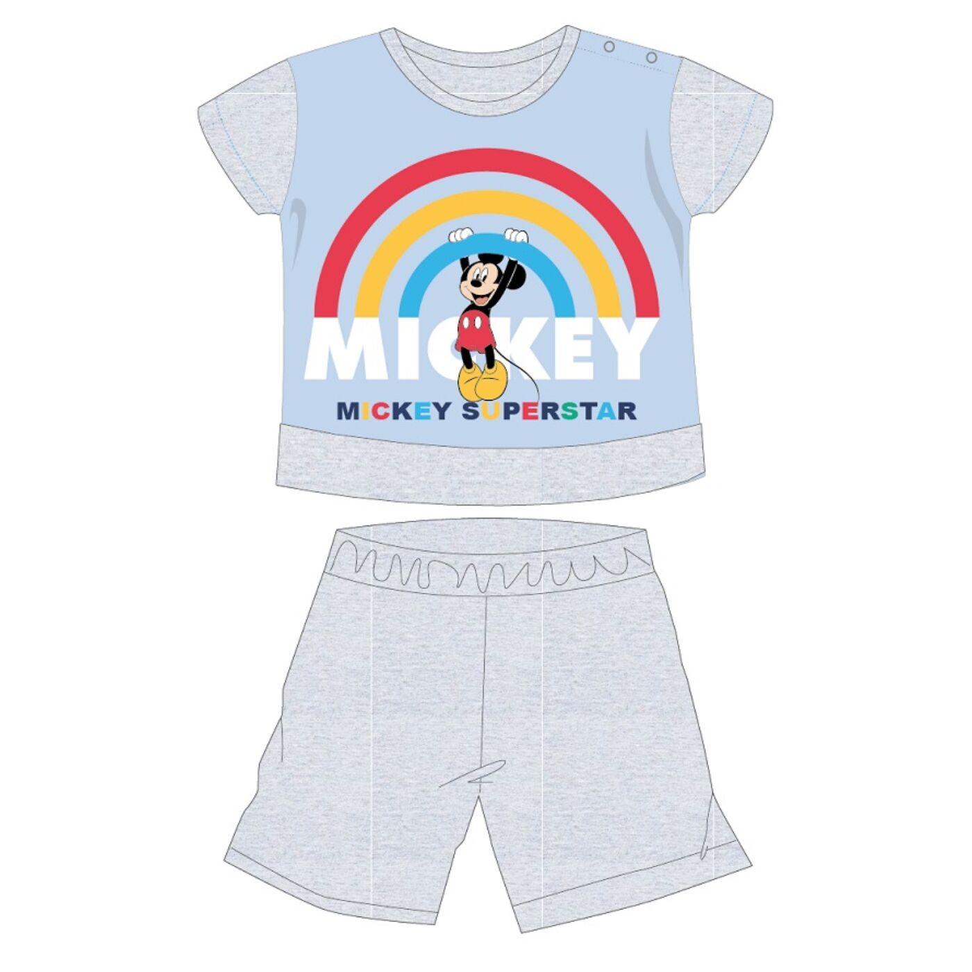 Disney Mickey egér nyári rövid ujjú baba pizsama - pamut jersey pizsama