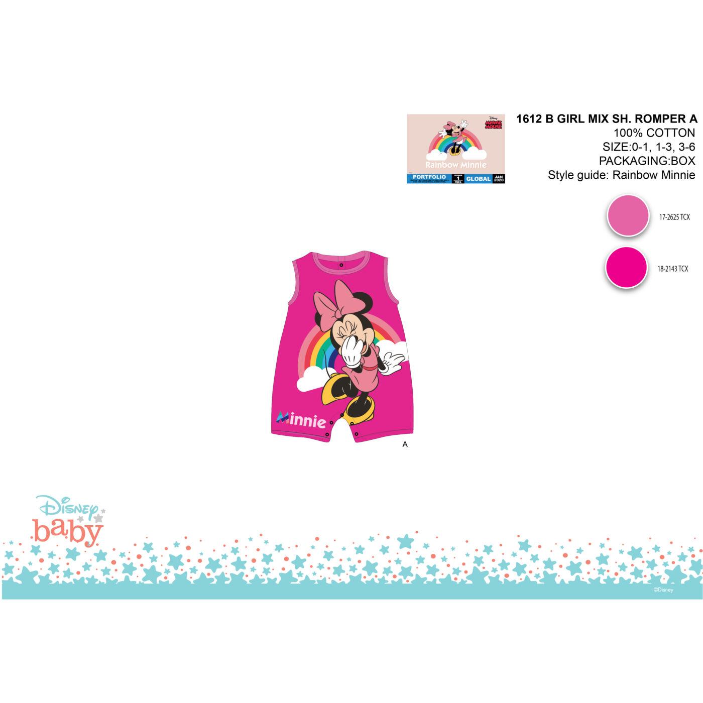 Disney Minnie egér nyári baba rugdalózó
